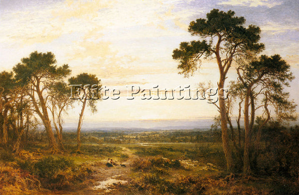 BENJAMIN WILLIAMS LEADER ACROSS THE HEATH ARTIST PAINTING REPRODUCTION HANDMADE