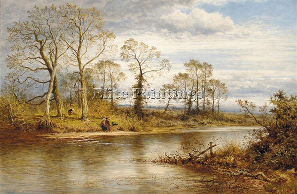 BENJAMIN WILLIAMS LEADER AN ENGLISH RIVER IN AUTUMN ARTIST PAINTING REPRODUCTION