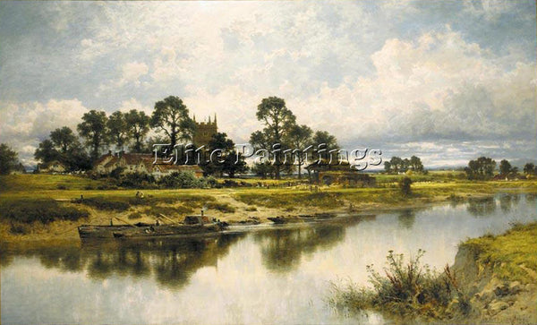 BENJAMIN LEADER SEVERN SIDE SABRINA S STREAM AT KEMPSEY ON RIVER SEVERN PAINTING