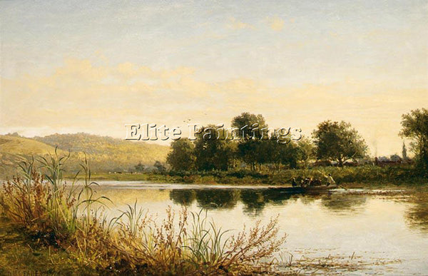 BENJAMIN WILLIAMS LEADER STREATLEY ON THAMES ARTIST PAINTING HANDMADE OIL CANVAS
