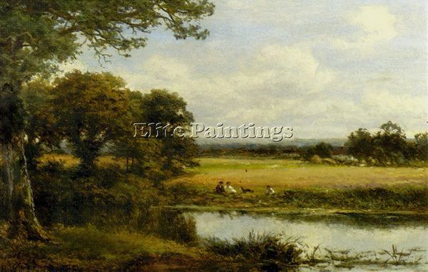 BENJAMIN WILLIAMS LEADER SURREY CORNFIELDS ARTIST PAINTING REPRODUCTION HANDMADE