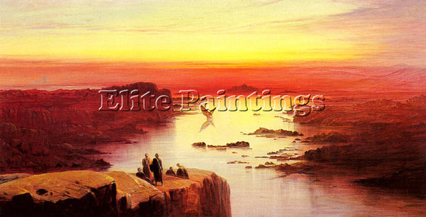 EDWARD LEAR A VIEW OF THE NILE ABOVE ASWAN ARTIST PAINTING REPRODUCTION HANDMADE