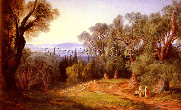 EDWARD LEAR CORFU AND THE ALBANIAN MOUNTAINS ARTIST PAINTING HANDMADE OIL CANVAS