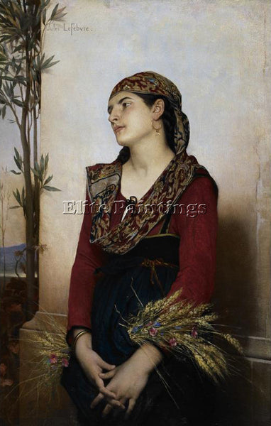 JULES JOSEPH LEFEBVRE MEDITERRANEAN BEAUTY ARTIST PAINTING REPRODUCTION HANDMADE