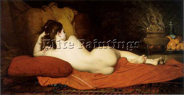 JULES JOSEPH LEFEBVRE ODALISQUE ARTIST PAINTING REPRODUCTION HANDMADE OIL CANVAS