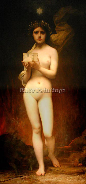 JULES JOSEPH LEFEBVRE PANDORA 1 ARTIST PAINTING REPRODUCTION HANDMADE OIL CANVAS