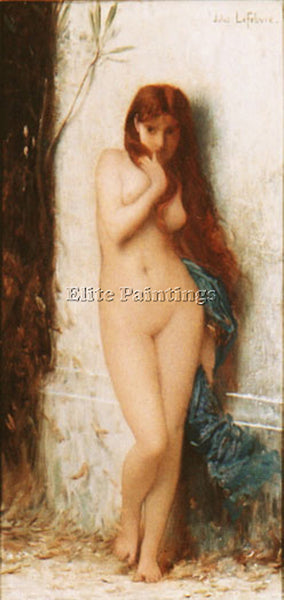 JULES JOSEPH LEFEBVRE VARIATION ON LA CIGALE ARTIST PAINTING HANDMADE OIL CANVAS
