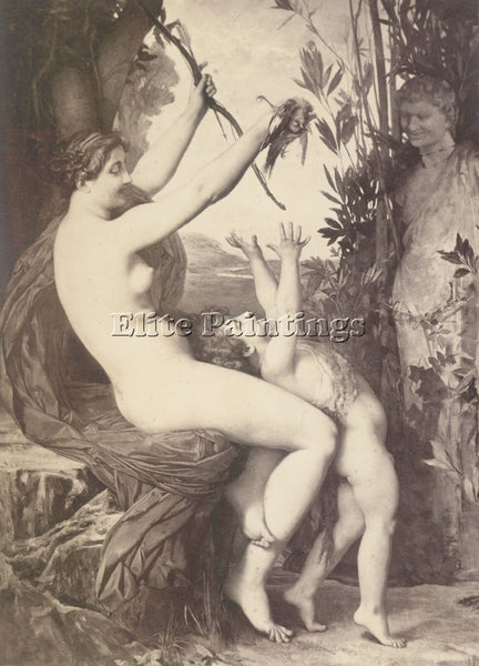 JULES JOSEPH LEFEBVRE NYMPH ET BACCHUS ARTIST PAINTING REPRODUCTION HANDMADE OIL