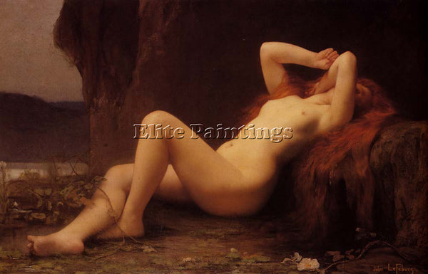 JULES JOSEPH LEFEBVRE  MARY MAGDALENE IN THE CAVE ARTIST PAINTING REPRODUCTION