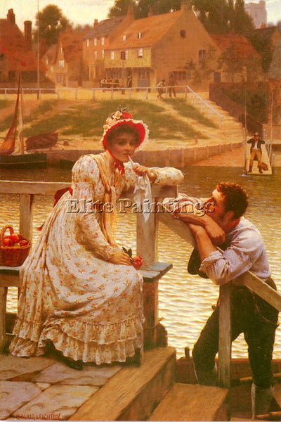 EDMUND BLAIR LEIGHTON COURTSHIP ARTIST PAINTING REPRODUCTION HANDMADE OIL CANVAS