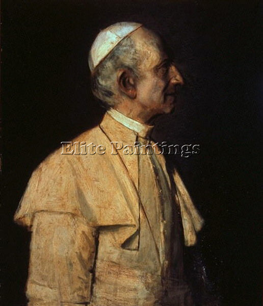 FRANZ VON LENBACH POPE LEO XIII ARTIST PAINTING REPRODUCTION HANDMADE OIL CANVAS