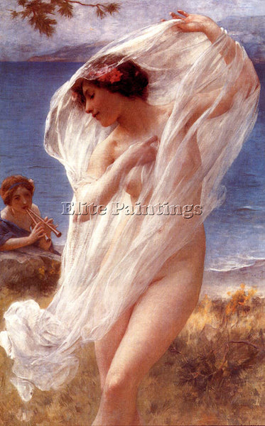 CHARLES AMABLE LENOIR A DANCE BY THE SEA ARTIST PAINTING REPRODUCTION HANDMADE