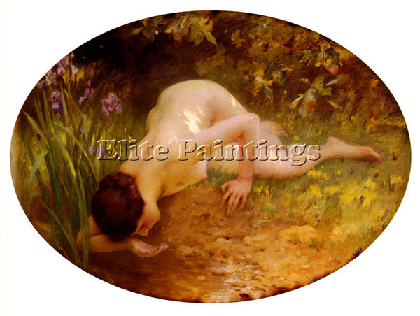 CHARLES AMABLE LENOIR LA BAIGNEUSE ARTIST PAINTING REPRODUCTION HANDMADE OIL ART