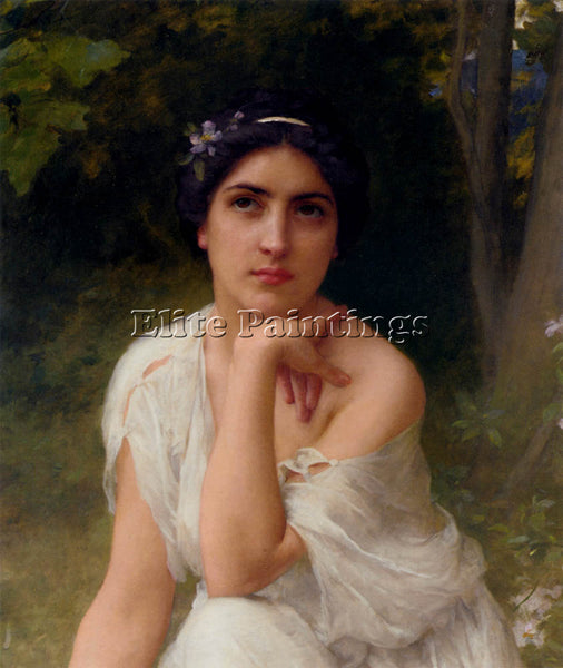 CHARLES AMABLE LENOIR PENSIVE ARTIST PAINTING REPRODUCTION HANDMADE CANVAS REPRO