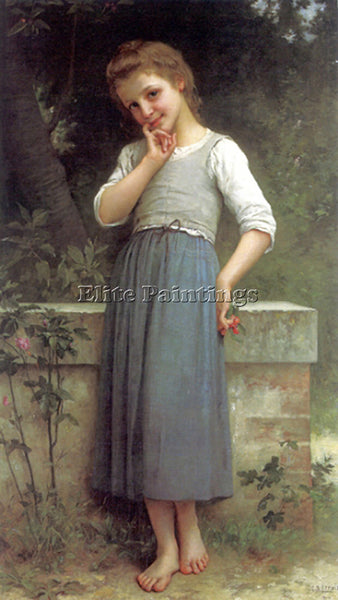 CHARLES AMABLE LENOIR THE CHERRYPICKER 1900 ARTIST PAINTING HANDMADE OIL CANVAS