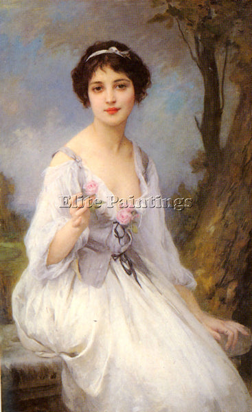 CHARLES AMABLE LENOIR THE PINK ROSE ARTIST PAINTING REPRODUCTION HANDMADE OIL