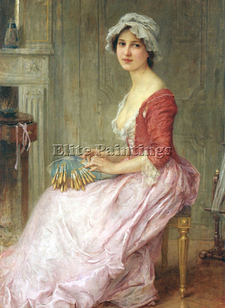 CHARLES AMABLE LENOIR THE SEAMTRESS ARTIST PAINTING REPRODUCTION HANDMADE OIL