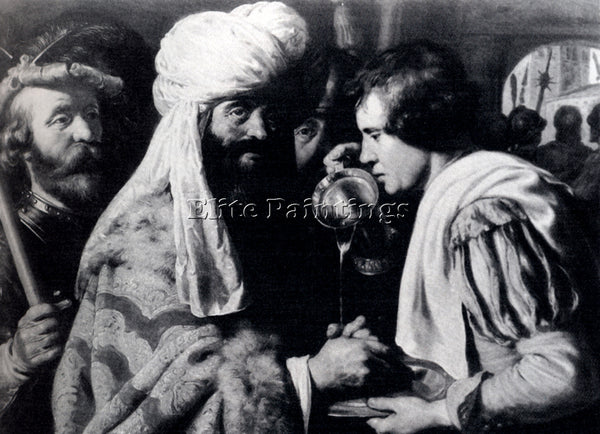 JAN LIEVENS  PILATE WASHING HIS HANDS ARTIST PAINTING REPRODUCTION HANDMADE OIL