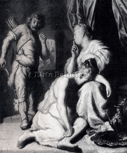 JAN LIEVENS  SAMSON AND DELILAH1628 ARTIST PAINTING REPRODUCTION HANDMADE OIL