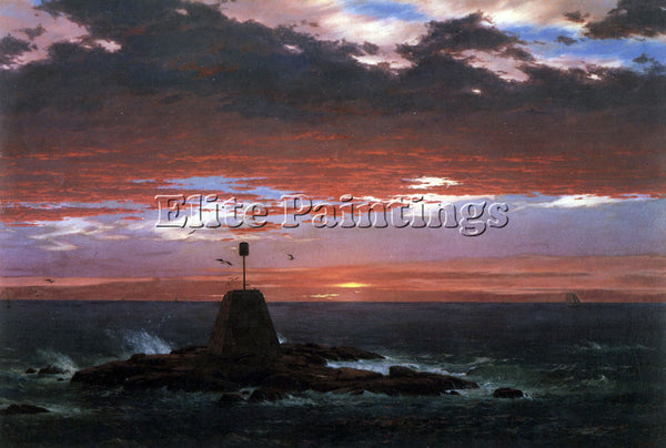 HUDSON RIVER LIGHT MOUNT DESERT FROM ICELAND BY FREDERICK EDWIN CHURCH PAINTING