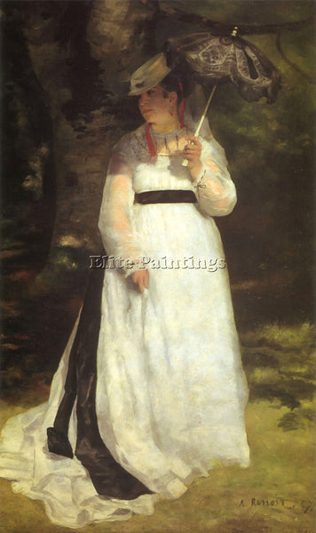 RENOIR LISE WITH AN UMBRELLA ARTIST PAINTING REPRODUCTION HANDMADE CANVAS REPRO