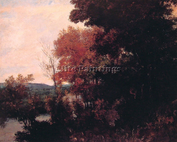 GUSTAVE COURBET LISIERE DE FORET ARTIST PAINTING REPRODUCTION HANDMADE OIL REPRO
