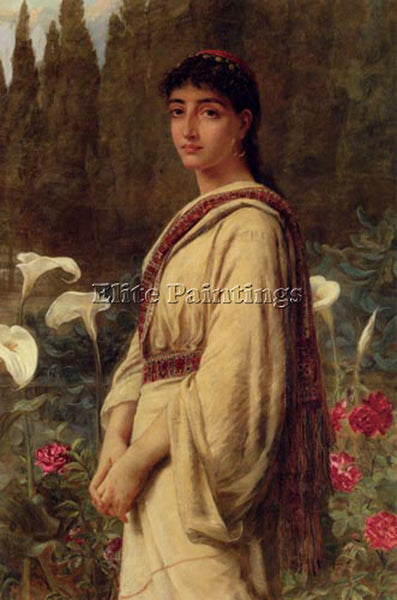 EDWIN LONGSDEN LONG EASTERN LILY ARTIST PAINTING REPRODUCTION HANDMADE OIL REPRO