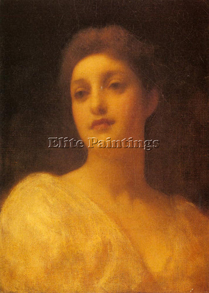 LORD FREDERICK LEIGHTON THE HEAD OF A GIRL ARTIST PAINTING REPRODUCTION HANDMADE
