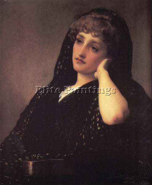 LORD FREDERICK LEIGHTON MEMORIES ARTIST PAINTING REPRODUCTION HANDMADE OIL REPRO