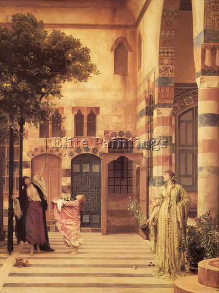 LORD FREDERICK LEIGHTON OLD DAMASCUS JEW S QUARTER ARTIST PAINTING REPRODUCTION