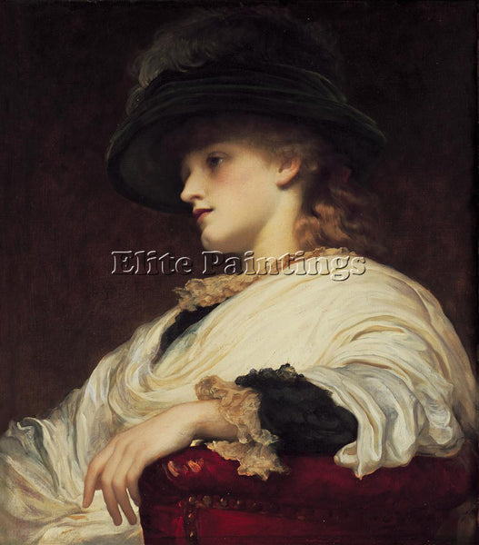 LORD FREDERICK LEIGHTON PHOEBE ARTIST PAINTING REPRODUCTION HANDMADE OIL CANVAS