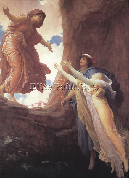 LORD FREDERICK LEIGHTON RETURN OF PERSEPHONE ARTIST PAINTING HANDMADE OIL CANVAS