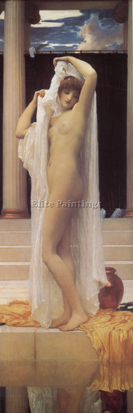 LORD FREDERICK LEIGHTON THE BATH OF PSYCHE 1 ARTIST PAINTING HANDMADE OIL CANVAS
