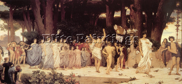LORD FREDERICK LEIGHTON THE DAPHNEPHORIA ARTIST PAINTING REPRODUCTION HANDMADE