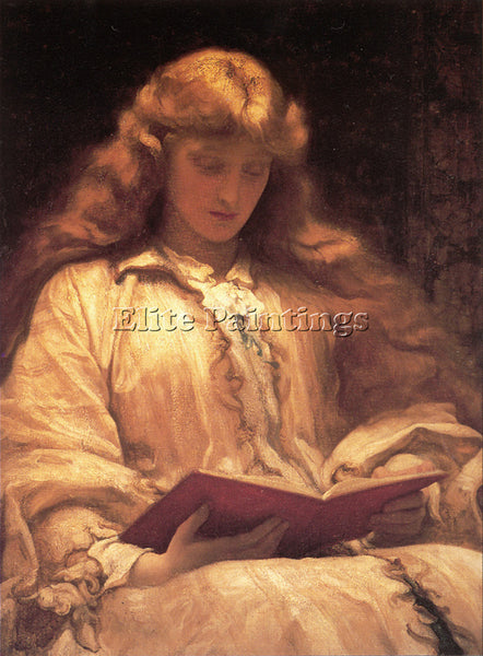 LORD FREDERICK LEIGHTON THE MAID WITH THE YELLOW HAIR ARTIST PAINTING HANDMADE