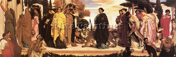 LORD FREDERICK LEIGHTON THE SYRACUSAN BRIDE ARTIST PAINTING HANDMADE OIL CANVAS