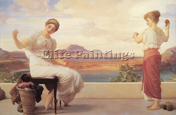 LORD FREDERICK LEIGHTON WINDING THE SKEIN ARTIST PAINTING REPRODUCTION HANDMADE