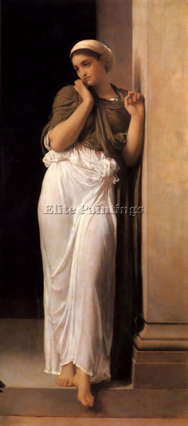 LORD FREDERICK LEIGHTON NAUSICAA 1878 BIG ARTIST PAINTING REPRODUCTION HANDMADE