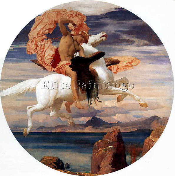 LORD FREDERICK LEIGHTON PERSEUS ON PEGASUS HASTENING TO RESCUE ANDROMEDA ARTIST