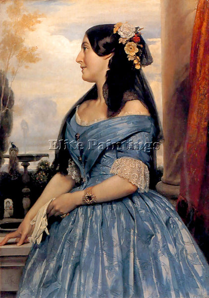LORD FREDERICK LEIGHTON PORTRAIT OF A LADY ARTIST PAINTING REPRODUCTION HANDMADE