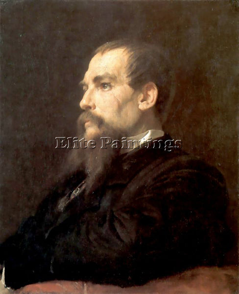 LORD FREDERICK LEIGHTON RICHARD BURTON 1875 ARTIST PAINTING HANDMADE OIL CANVAS