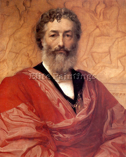 LORD FREDERICK LEIGHTON SELF PORTRAIT ARTIST PAINTING REPRODUCTION HANDMADE OIL