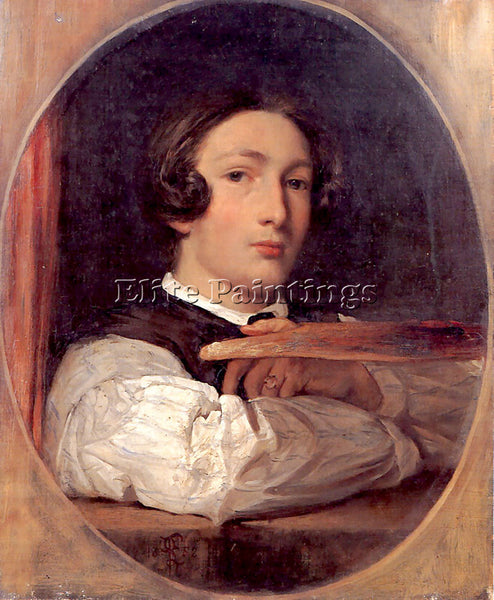 LORD FREDERICK LEIGHTON SELF PORTRAIT AS A BOY ARTIST PAINTING REPRODUCTION OIL