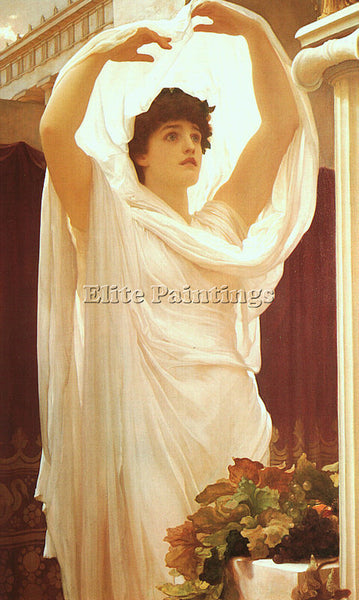 LORD FREDERICK LEIGHTON LEIGHT ARTIST PAINTING REPRODUCTION HANDMADE OIL CANVAS