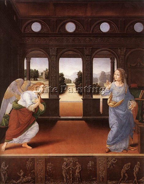 LORENZO DI CREDI ANNUNCIATION ARTIST PAINTING REPRODUCTION HANDMADE CANVAS REPRO