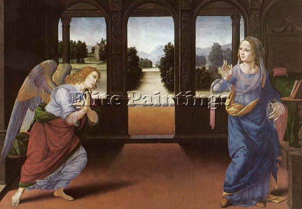 LORENZO DI CREDI ANNUNCIATION DT1 ARTIST PAINTING REPRODUCTION HANDMADE OIL DECO