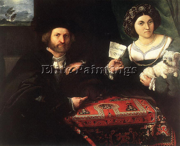LORENZO LOTTO HUSBAND AND WIFE 1523 ARTIST PAINTING REPRODUCTION HANDMADE OIL