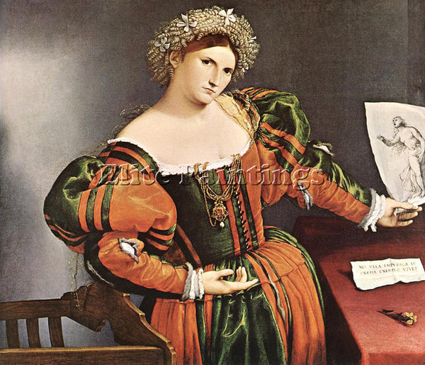 LORENZO LOTTO LUCRETIA 1528 30 ARTIST PAINTING REPRODUCTION HANDMADE OIL CANVAS