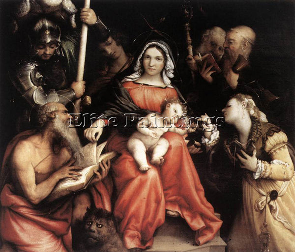 LORENZO LOTTO MYSTIC MARRIAGE OF ST CATHERINE 1524 ARTIST PAINTING REPRODUCTION