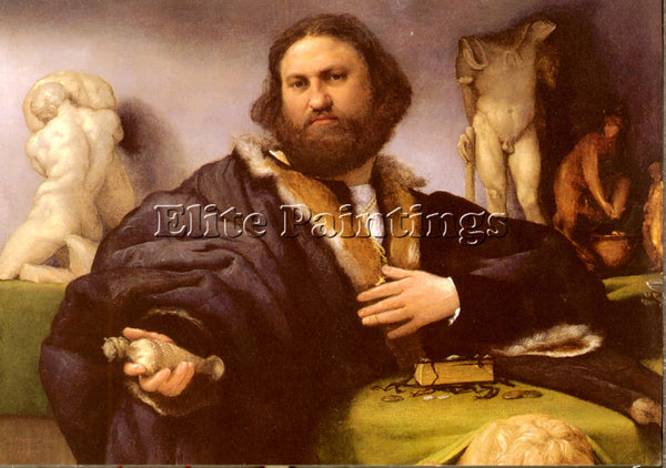 LORENZO LOTTO PORTRAIT OF ANDREA ODONI ARTIST PAINTING REPRODUCTION HANDMADE OIL